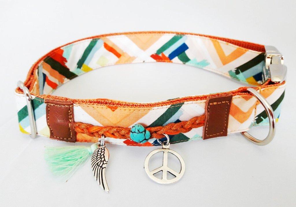 hippie 1 halsband leine halsb nder geschirre outlet chi co shop f r hundemode. Black Bedroom Furniture Sets. Home Design Ideas