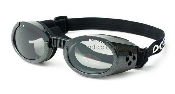 ILS METALLIC BLACK FRAME / SMOKE LENS Schutzbrille